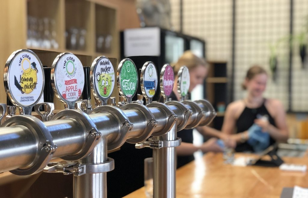 Complimentary tasting of ciders on tap